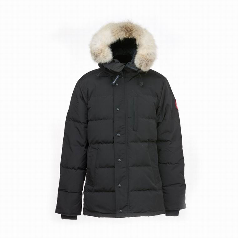 Canada Goose Down Hooded Coat Man BUTTONED SIDE POCKET UP AND DOWN DIM GREY