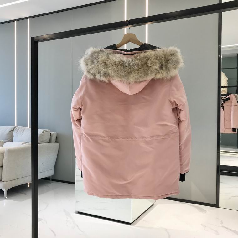 Canada Goose ZIPPERED PATCH FUR HOODED JACKET MISTY ROSE