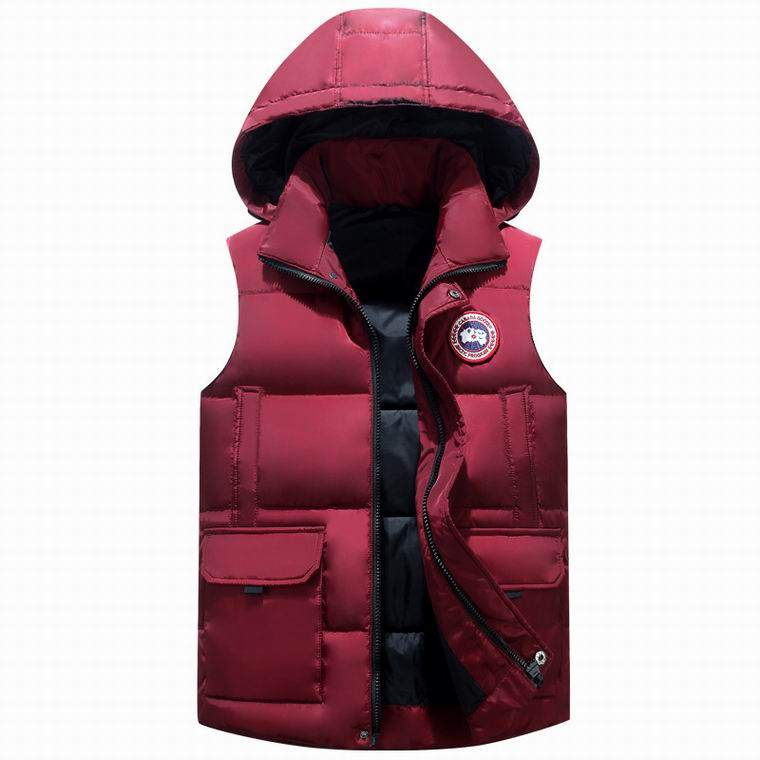Canada Goose Down Puffer Vest HOODED JACKET  DARK RED