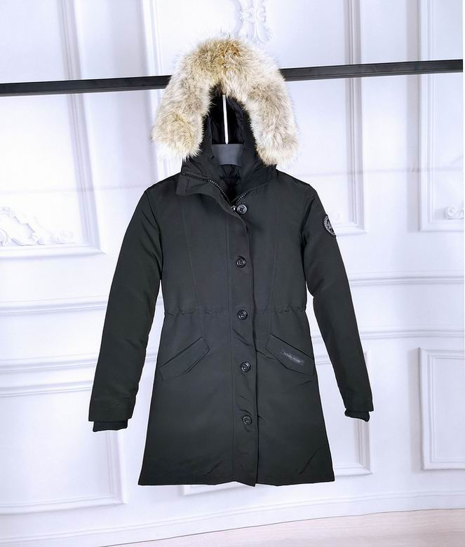 Canada Goose Rossclair Parka ZIPPER BUTTONED DARK GREY HOODED COAT