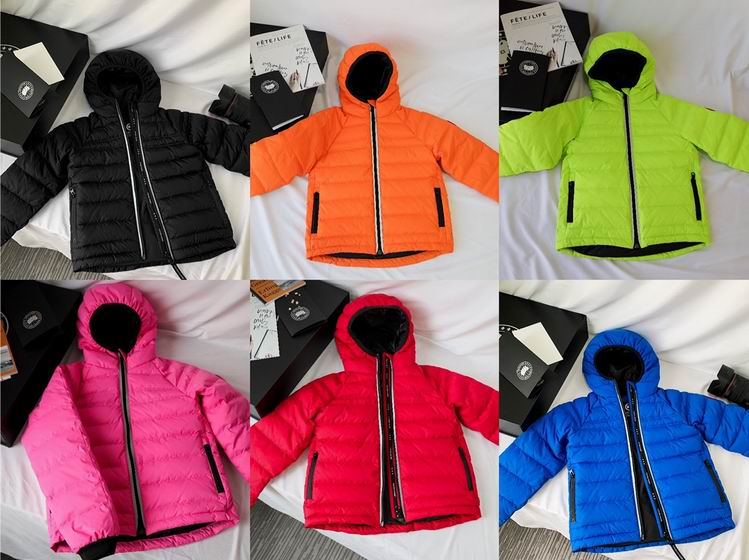 CANADA GOOSE KID ZIPPERED HOODED JACKETS