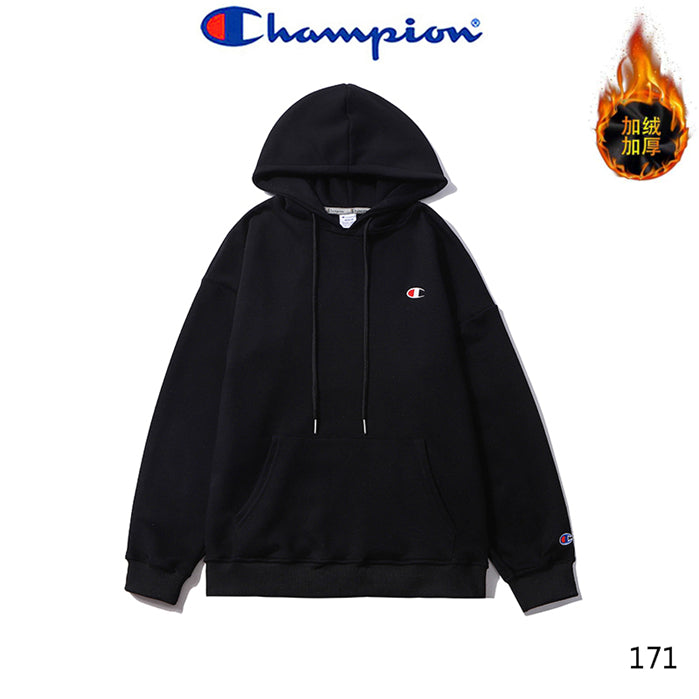 CHAMPION Small Logo Embroidery Hoodies