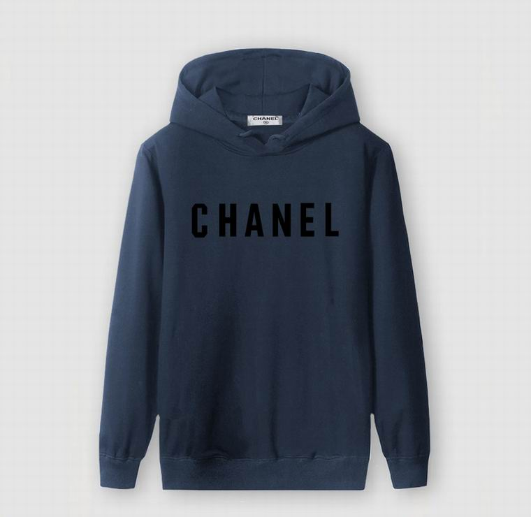 CHANEL HOODIE NAVY BLUE BLACK PRINT