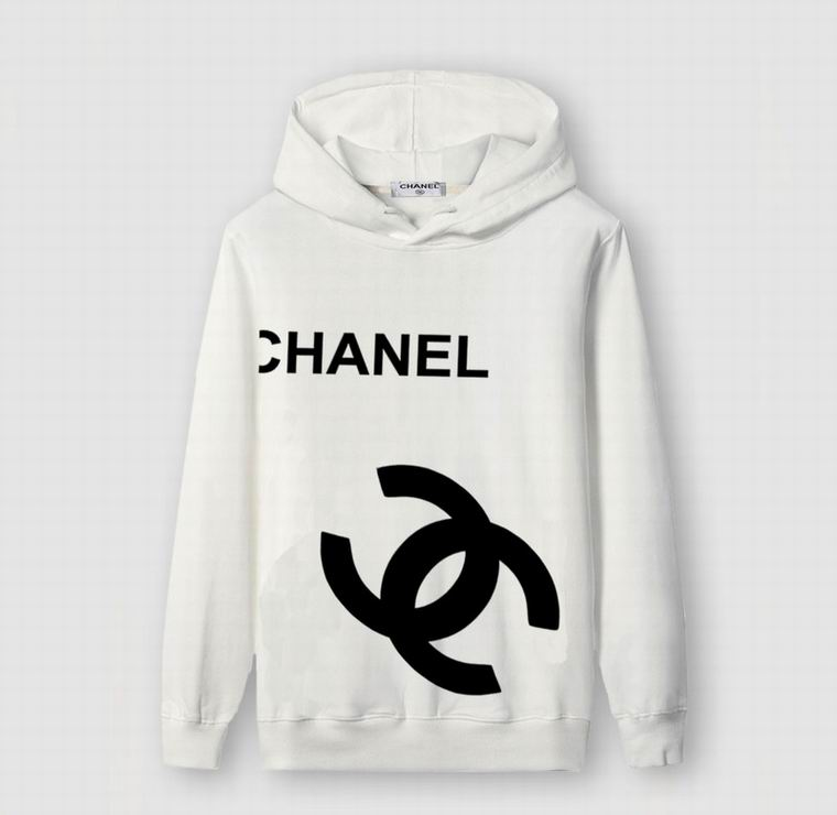CHANEL BLACK HOODIE LOGO SIDE BLACK PRINT