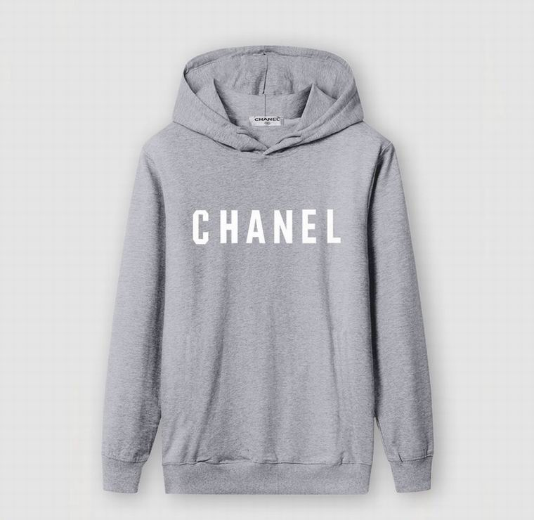 CHANEL HOODIE GREY WHITE PRINT