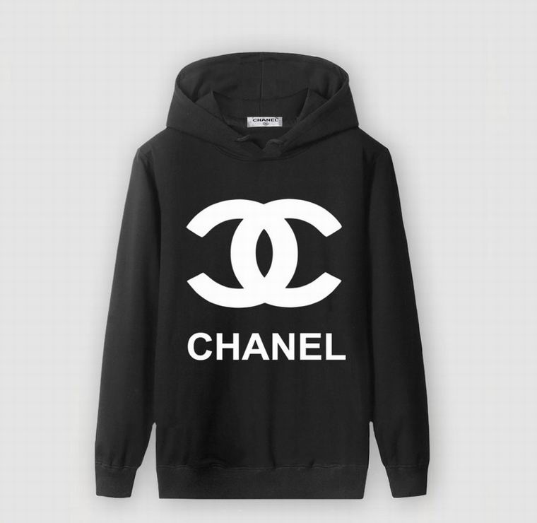 CHANEL HOODIE BLACK LOGO AND BRAND PRINT WHITE