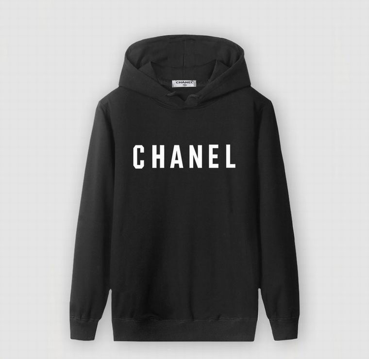 CHANEL BLACK HOODIE CENTER WHITE PRINT