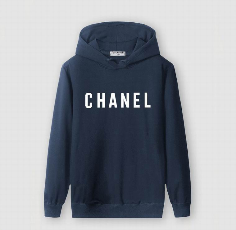CHANEL HOODIE NAVY BLUE WHITE PRINT