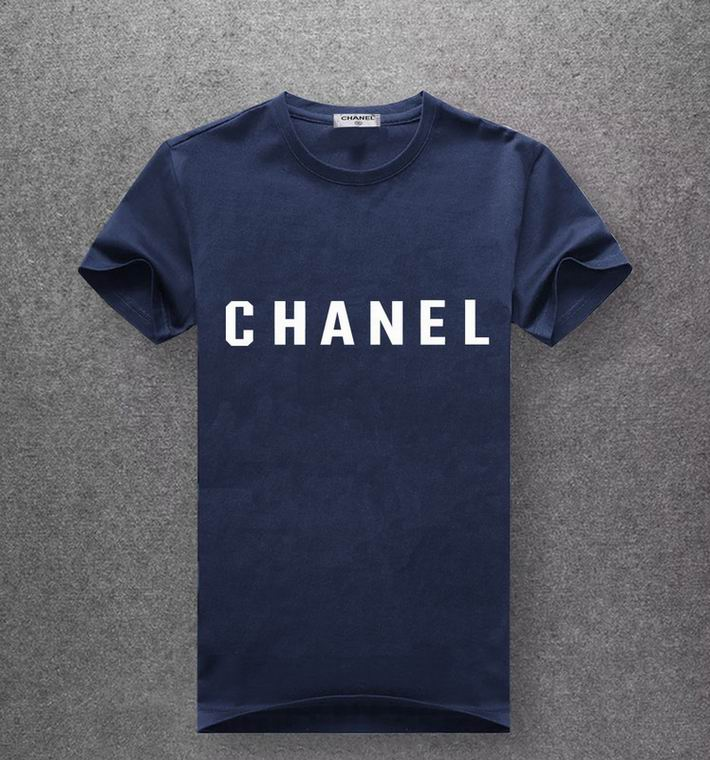 Chanel navy blue T-shirt white print