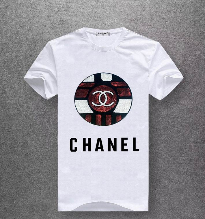 Chanel T Shirt CENTER LOGO BLACK PRINT