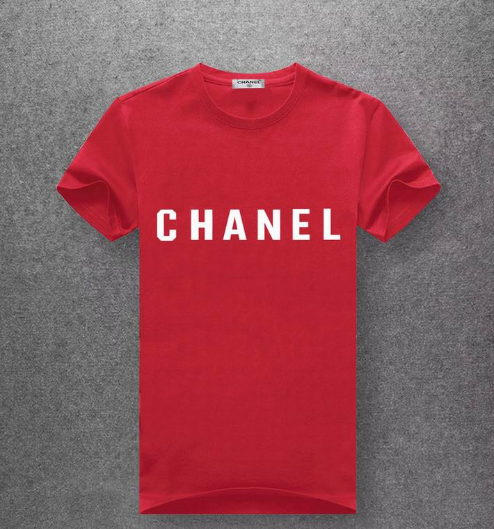 Chanel red T-shirt white print