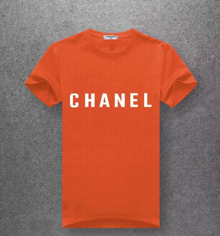 Chanel red orange T-shirt white print