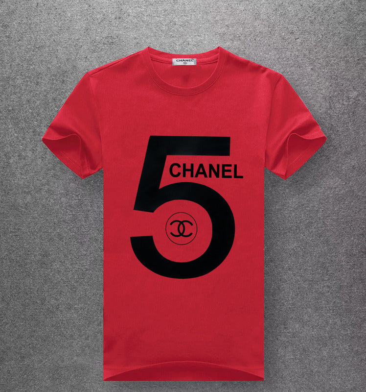 Chanel 5 red t-shirt black print