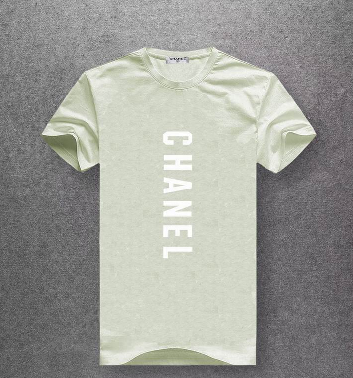 Chanel light olive green color T-shirt white print