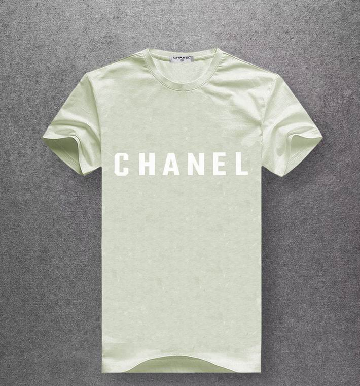 Chanel light olive green T-shirt white print center