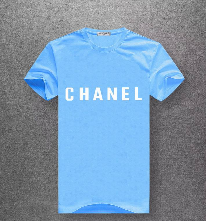 Chanel sky blue T-shirt white print