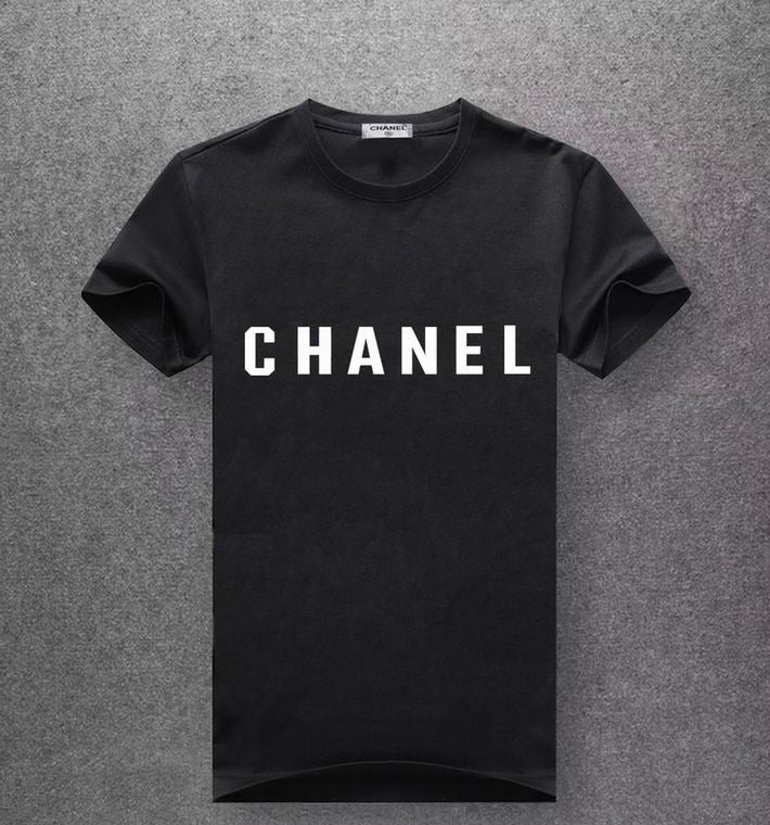Chanel black T-shirt white print