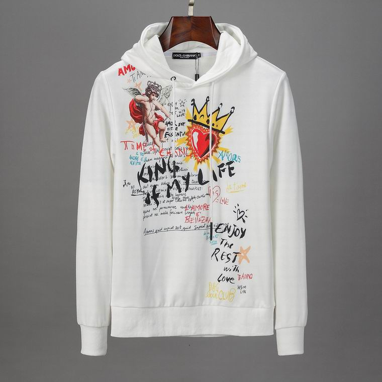 D&G Hoodies White King Of My Life Print