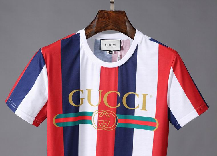 GUCCI T Shirt- STRIPE RED BLUE AND WHITE