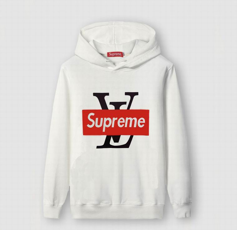White Louis Vuitton Supreme Hoodies