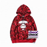 BAPE Color Camo Pullover Hoodie Red