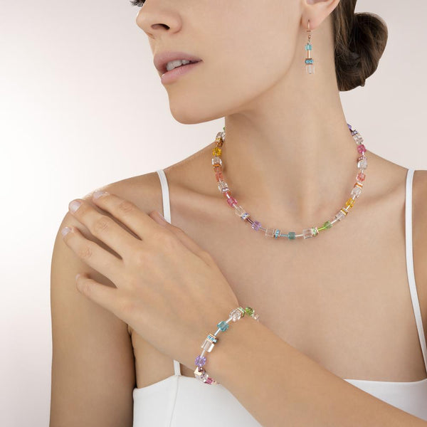 COEUR DE LION - Geo Cube Multicolour Crystal Necklet