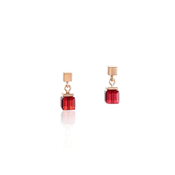 COEUR DE LION - Geo Cube Soft Pinks & Red Earrings