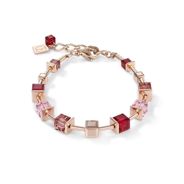 COEUR DE LION - Geo Cube Soft Pinks & Red Bracelet