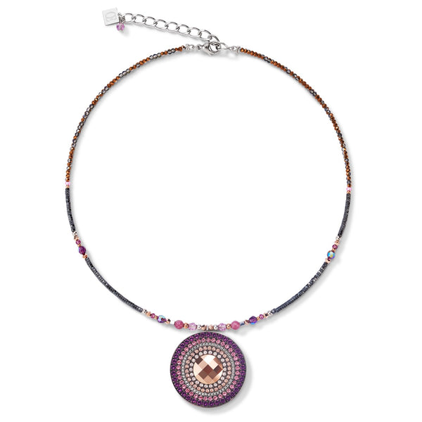 COEUR DE LION - Natural Selection Warm Purple Disc Necklet