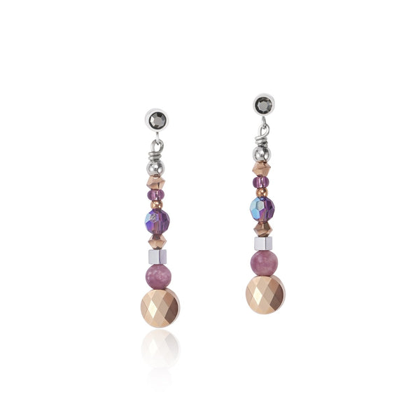 COEUR DE LION - Natural Selection Warm Purple Earrings