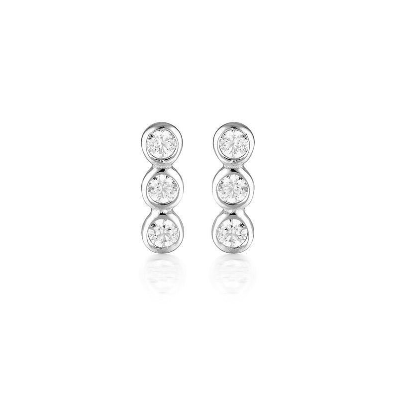 Georgini - Trio Sterling Silver Cubic Zirconia Stud Earrings