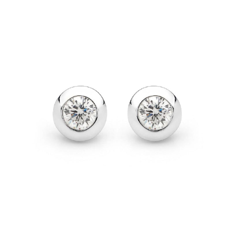 Georgini - Sterling Silver Cubic Zirconia Stud Earrings