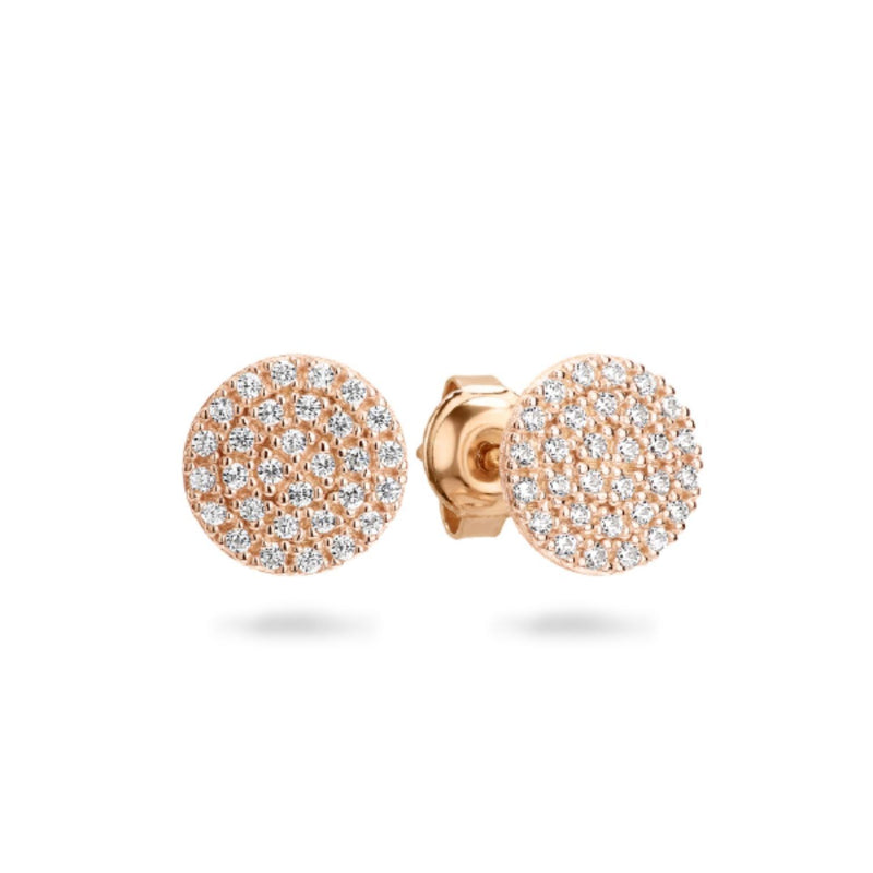 Georgini - Pavo Rose Gold Plated Sterling Silver Cubic Zirconia Stud Earrings