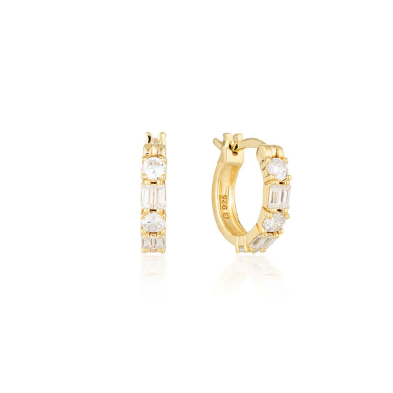 Georgini - Irina Small Gold  Cubic Zirconia Hoop Earrings