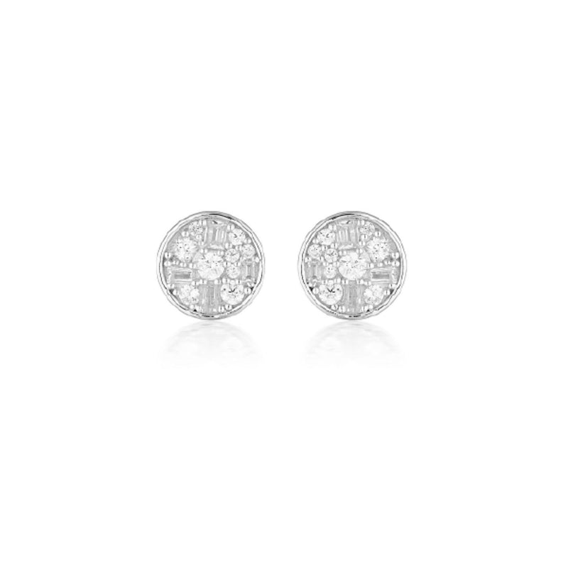 Georgini - Mini Mosaic Sterling Silver Cubic Zirconia Stud Earrings