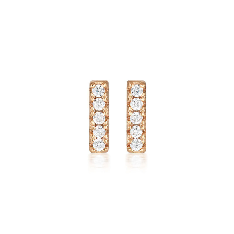 Georgini - Alina Rose Gold Cubic Zirconia Stud Earrings