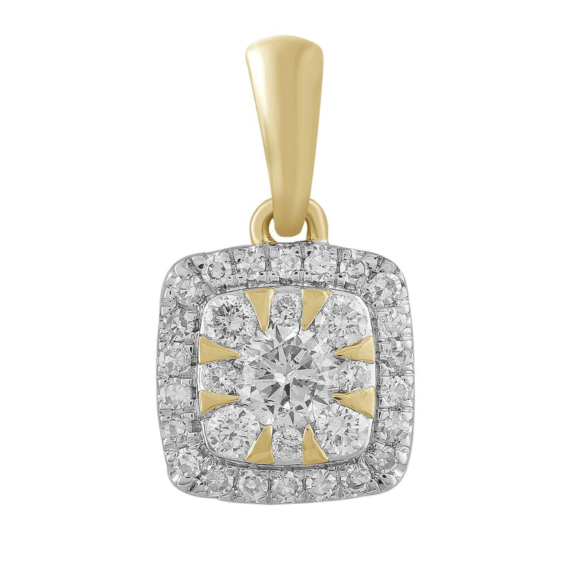 Pendant with 0.25ct Diamond in 9K Yellow Gold