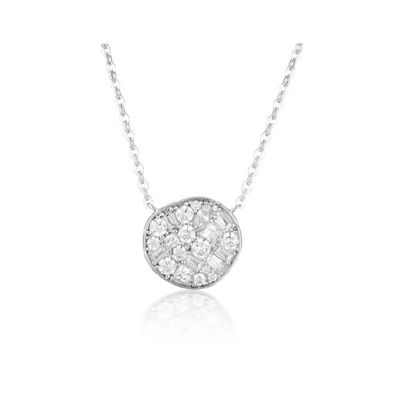 Georgini - Fili Large Mosaic Sterling Silver Cubic Zirconia Necklet