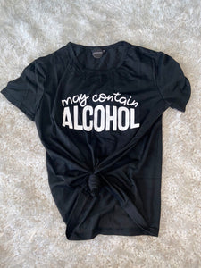 MAY CONTAIN ALCOHOL T-SHIRT
