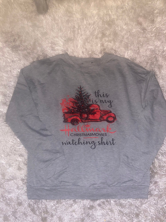 HALLMARK CHRISTMAS MOVIES LONG SLEEVE T SHIRT