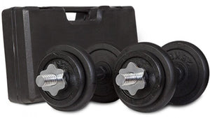 SPECIAL DEAL - 20kg Adjustable Dumbbell Set With Case In Black-Grey