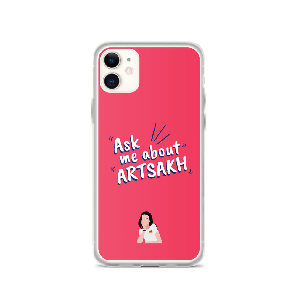 Ask Me About Artsakh iPhone Case-Iphone Cases-Amplify Armenia