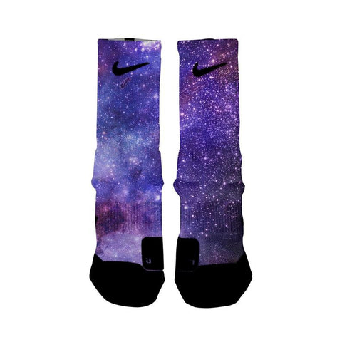 DEEP SPACE Custom Nike Elite Socks, All Shoe Sizes