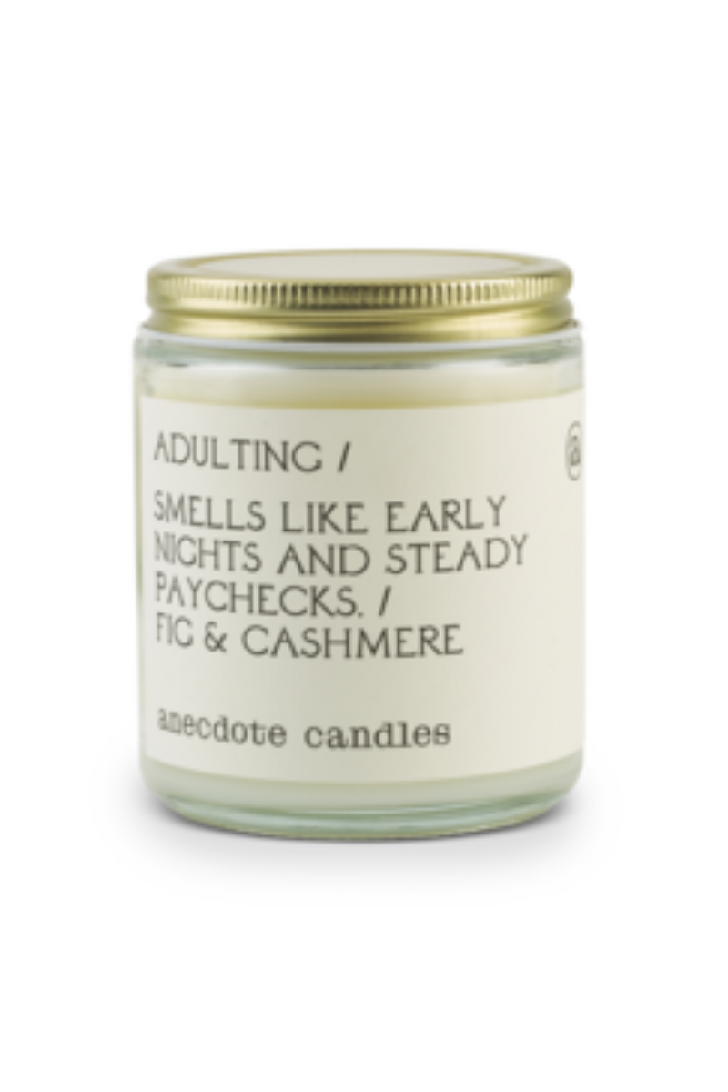 Adulting Glass Candle