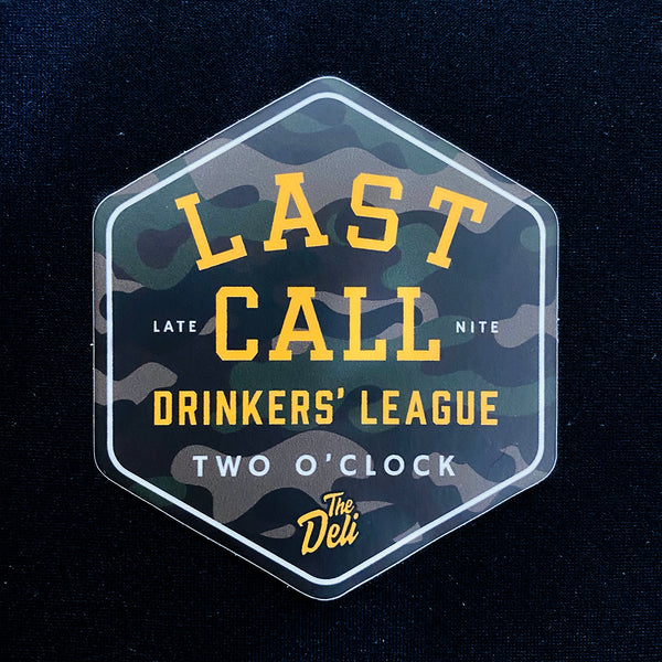 Last Call Drinkers' League Sticker