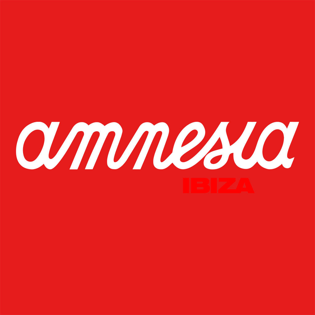 Amnesia Ibiza White And Red Logo Men's Organic T-Shirt-Amnesia Ibiza Store
