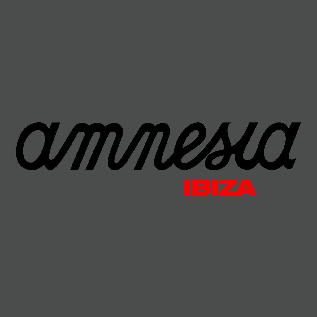 Amnesia Ibiza Black And Red Logo Men's Organic T-Shirt-Amnesia Ibiza Store