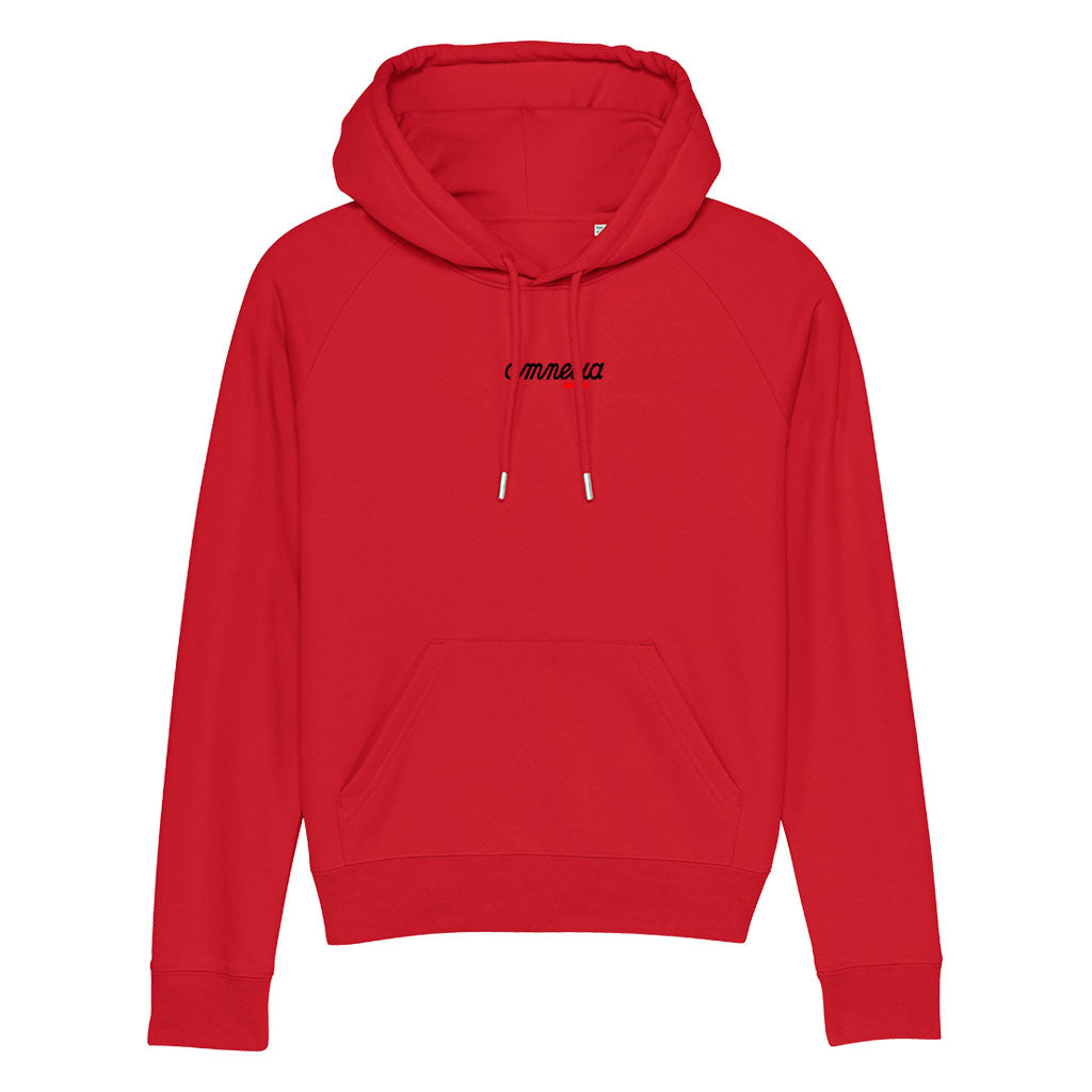 Amnesia Ibiza Black And Red Logo Women's Trigger Iconic Hoodie-Amnesia Ibiza Store
