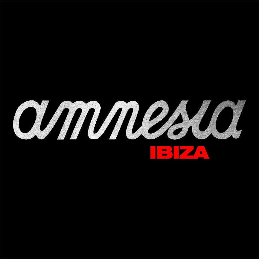 Amnesia Ibiza Metallic Silver And Red Logo Kids Mini Cruiser Iconic Hoodie-Amnesia Ibiza Store
