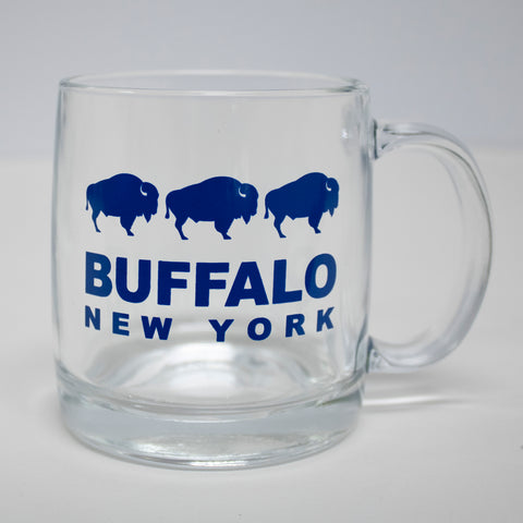 Buffalo Clear Glass Mug 4 Pack